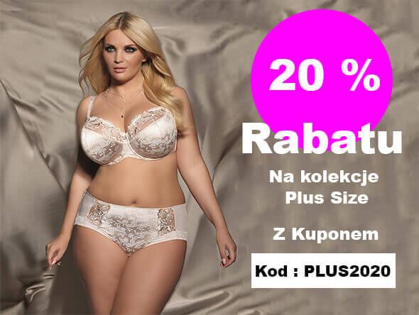 20% rabatu na kolekcję Plus Size - kod: PLUS2020