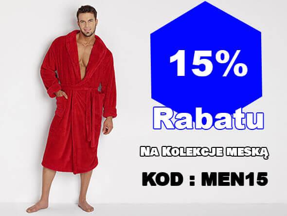 15% rabatu na kolekcę męską - kod:MEN15